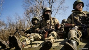 Pro-Russian rebels control large parts of eastern Ukraine.