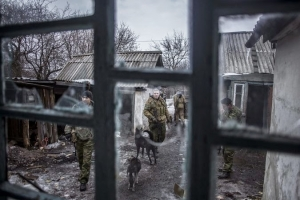Pro-Russian separatists in Ukraine.