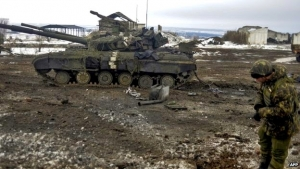 Ukrainian troops are trying to defend the key transport hub of Debaltseve.