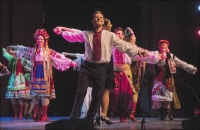 Julian Makowsky, the lead dancer with the Pavlychenko Folklorique Ensemble, performs during the Saskatoon Symphony Orchestra's Ukrainian Christmas at TCU Place in December. Photograph by: Bridges Photo By Liam Richards, The Starphoenix