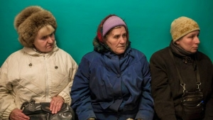 While some families fled eastern Ukraine because of the military conflict, many of the elderly stayed behind and now face a desperate shortage of health care.