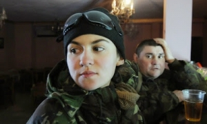 Vitaminka is one of the women in active combat roles on the frontline in eastern Ukraine