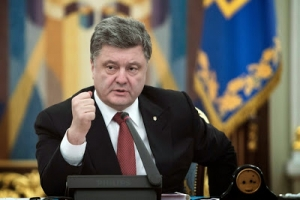 Ukrainian President Petro Poroshenko spoke to the leaders of Russia, France and Germany on Thursday about the state of affairs in east Ukraine.