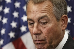 House Speaker John Boehner, pictured above, and a bipartisan group of senior lawmakers are urging the Obama administration to supply lethal aid quickly to Kiev.