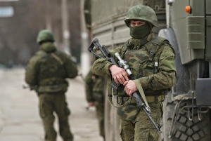 Russian soldiers in Ukraine.